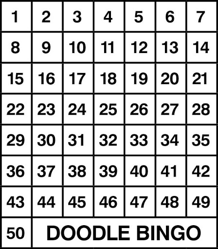100 plain bingo grid Saul Good