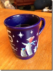 bexagin My #TWANTA2013 present! I'm having my coffee in it. Thank you @dawbes! It's perfect!