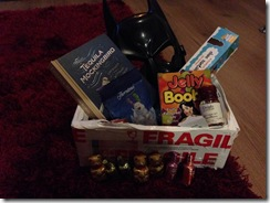 _bieredeluxe in the box was a present for me, BatBaby, BatFink (the dog) and chocs for the kids - thank you