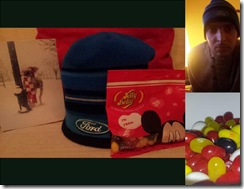 mrpeterwood Warm hat. Jelly Beans. And the worst attempt at a selfie in recorded history'