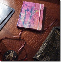sundayhandbag My lovely #TWANTA13 gift a pretty beautifuly hand-covered in silk notebook