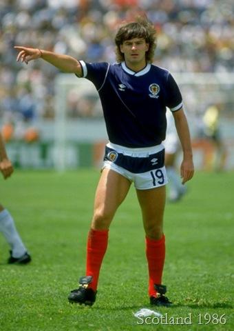 Charlie Nicholas in Scotland's 1986 strip