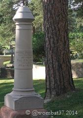 A gravestone in Deadwood, SD