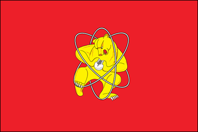 07 Why is that angry hula-hooping bear trying to peel that enormous hard-boiled egg Because he's the symbol of Zheleznogorsk, a closed Siberian city founded in 1950 to develop weapons-grade plutonium