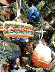 Foody tree decorations