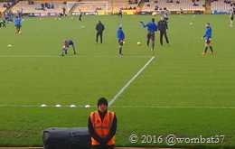 Shakers warm up behind another bored steward