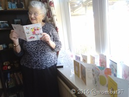 Mombat with some of the many cards she received