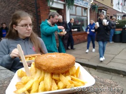Fishcake and chippy chips!