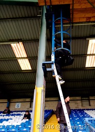 Up the gantry