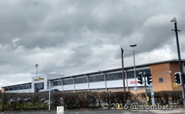 Pirelli Stadium from across the roundabout