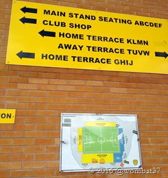 Bit confused till I realised the Main Stand is the ONLY seating