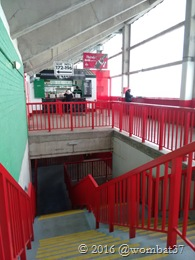 Big old staircase up into big old stand