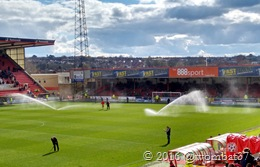 Sprinklers blown into the home end
