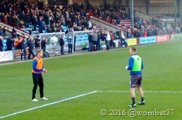 Rosie and Pope's keepy-up header game enthralls the crowd