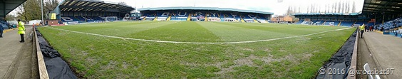 "Gigg Lane from beneath the ""big"" screen"