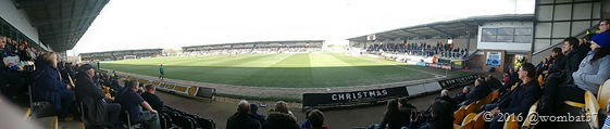 Pirelli Stadium - a very pleasant place