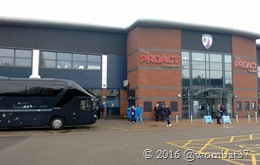Bury team bus at the Proact