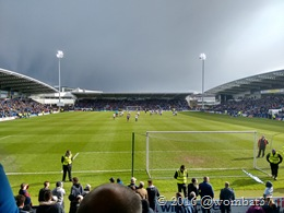 Sunshine, thundercloud, and floodlights