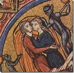 "Snogging women from the  ""Bible Moralisée"""